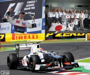 Układanka Kamui Kobayashi - Sauber - Grand Prix Japonii 2012, 3. sklasyfikowane