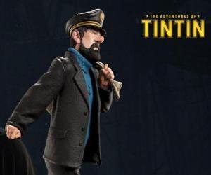 Układanka Kapitan Baryłka jest Tintin najlepszym przyjacielem
