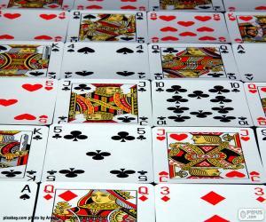 Układanka Kart pokera