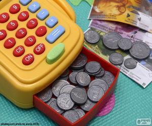 Układanka Kasa fiskalna zabawka