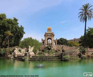 Układanka Kaskada Parc de la Ciutadella, Barcelona