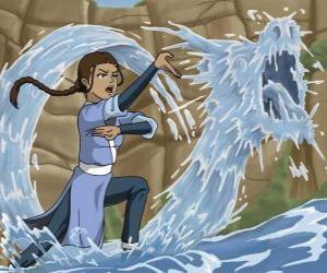 Układanka Katara jest potężnym wody - mistrz, która towarzyszy Aang z bratem Sokka