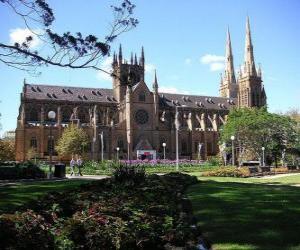 Układanka Katedra Najświętszej Maryi Panny w Sydney, Australia