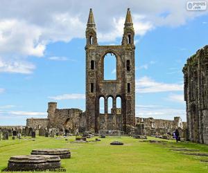 Układanka Katedra St Andrews w Szkocji