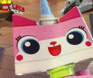 Układanka Kicia Rożek , kotek jednorożca Wielka Przygoda z Lego, film