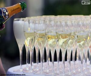 Układanka Kieliszki do szampana