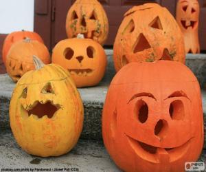 Układanka Kilka Halloweenowych dyń