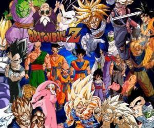 Układanka Kilka postaci z Dragon Ball