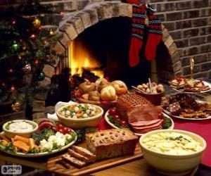 Układanka Kilka potraw na Boże Narodzenie