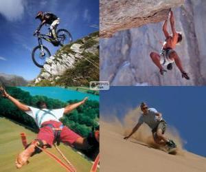 Układanka Kilka sportów ekstremalnych i przygoda