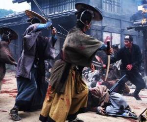 Układanka Kilka walk samurajów