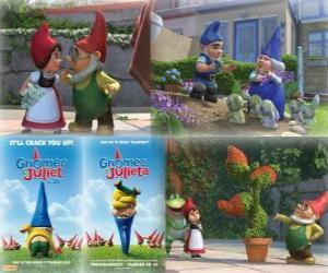 Układanka Kilka zdjęć z Gnomeo i Julia