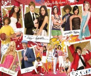 Układanka Kilka zdjęć z High School Musical 3
