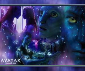 Układanka Kilka zdjęć z Jake i na'vi avatar Neytiri