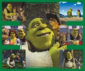 Układanka Kilka zdjęć z Shrek