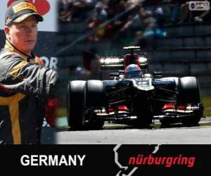 Układanka Kimi Räikkönen - Lotos - Grand Prix Niemiec 2013, 2 ° sklasyfikowane