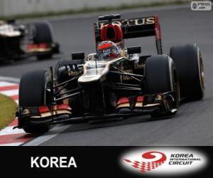 Układanka Kimi Räikkönen - Lotos - Grand Prix Korei 2013, 2 ° sklasyfikowane