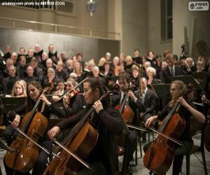 Układanka Klasyczna Orkiestra muzyczna