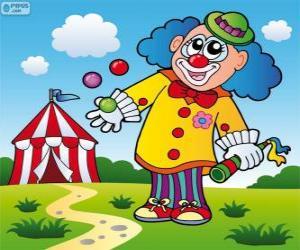 Układanka Klaun żongler