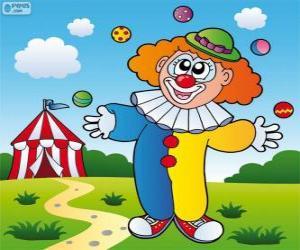 Układanka Klaun żonglerka