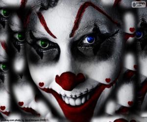 Układanka Klaun Halloween