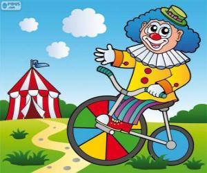 Układanka Klaun na rowerze