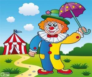 Układanka Klaun z parasolem