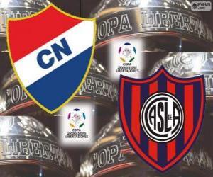 Układanka Klubu Nacional Paragwaj vs San Lorenzo de Almagro Argentyna. Finał Copa Libertadores 2014