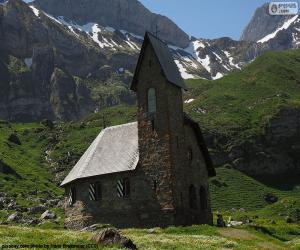 Układanka Kościół w wysokie góry, Szwajcaria