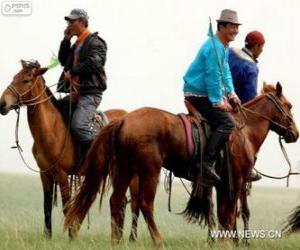 Układanka Koń Xilingol pochodzących z Mongolii