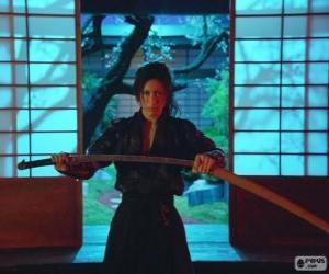 Układanka Kobieta samuraj