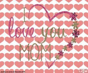 Układanka Kocham cię, MAMO