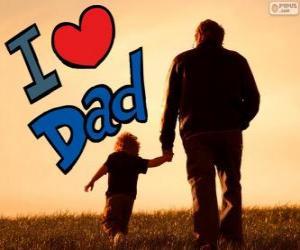 Układanka Kocham Cię, tato