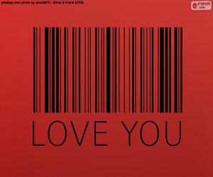Układanka Kod kreskowy, Love you