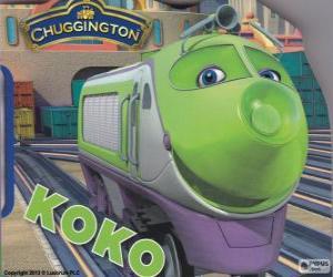 Układanka Koko, elektryczna lokomotywa z Chuggington