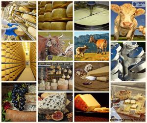 Układanka Kolaż z serem