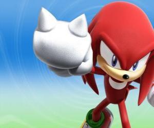 Układanka Kolczatka Knuckles, rywal i przyjaciel Sonic