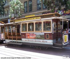 Układanka Kolejki linowe w San Francisco