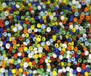 Układanka Kolorowe koraliki