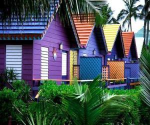 Układanka Kolory domów, Bahamy