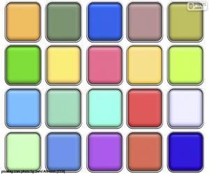 Układanka Kolory kwadratów