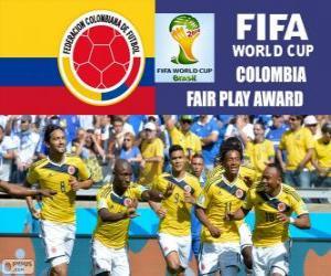 Układanka Kolumbia, nagrody Fair Play. Brazylia 2014 roku Puchar Świata