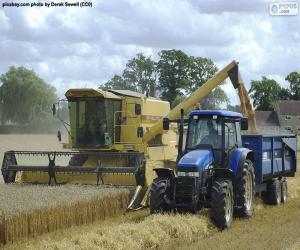 Układanka Kombajn i traktor