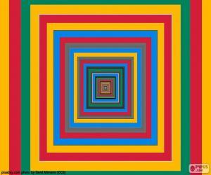 Układanka Koncentryczne kwadratów