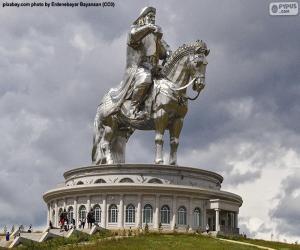 Układanka Konny posąg Czyngis-chana, Mongolia