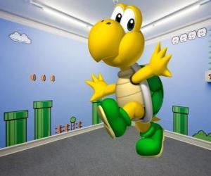 Układanka Koopa Troopa, dwunożnym żółwie są wrogami w grach Mario