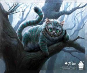 Układanka Kot-Dziwak z Cheshire, Kot z Cheshire spoczywała na gałęzi drzewa