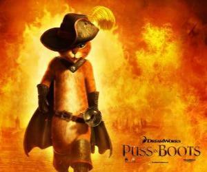 Układanka Kot w butach, bohater filmu DreamWorks nowych