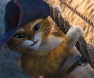 Układanka Kot w Butach w jednym z jego przygodach