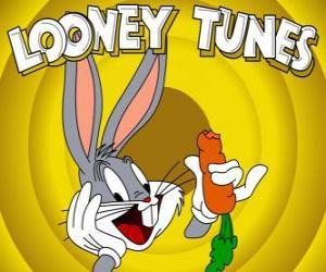 Układanka Królik Bugs, bohater królik o przygodach Looney Tunes